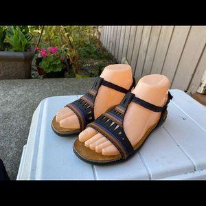 Naot Multi-Color Leather Ankle Strap Sandals SZ. 6